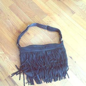 GAP Bags - Gap suede hobo bag with fringes